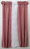 BB70040 - Curtains: Drape, Dusty Rose with White Lace Trim