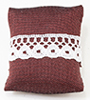 Pillow, Burgundy With White Bow