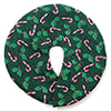 BB90003 - Tree Skirt, Green Candy Cane Pattern