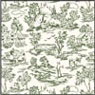 BP1FR103 - Wallpaper, 6pc: Campagne Toile Green