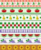 BPQBR300 - 1/4In Scale Wallpaper, 6pc: Kitchen Border