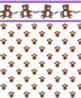 BPQCT104 - 1/4In Scale Wallpaper, 6pc: Sugar Bear