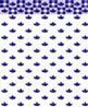 BPQKT108B - 1/4In Scale Wallpaper: Country Kitchen, Blue