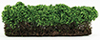 "CA0285 - Large Green Hedges, 1pc 3"" x 7-3/4"""