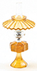 CB075A - Small Oil Lamp with Shade, Amber