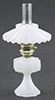 CB075M - Small Oil Lamp with Shade, Milk Glass