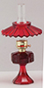 CB075R - Small Oil Lamp with Shade, Red