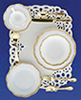 CB100 - 1 Place Table Setting-Gold Trim