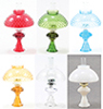 CB104 - Oil Lamp With Hobnail Shade, Assorted, 1pc
