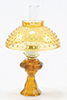 CB104A - Oil Lamp With Hobnail Shade, Amber