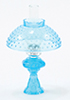 CB104T - Oil Lamp With Hobnail Shade, Turquoise