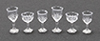 CB110CC - Stemware, Clear Cut, 6/Pc
