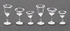 CB110CP - Stemware, Clear Plain, 6/Pc