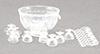 CB120C - 8 Piece Punch Bowl Set, Crystal