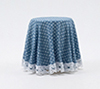 CB124B - Skirted Table-Blue Mini Dot