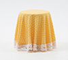 CB124Y - Skirted Table-Yellow Mini Dot