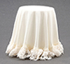 CB125I - Skirted Table, Ivory