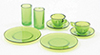 CB129G - Dishes, Green, 8/Piece