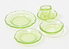 CB132G - Depression Dish Set, 5Pc, Green