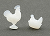 CB152 - Rooster And Nesting Hen Figurines