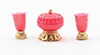 CB165 - Candy Dish with Vases, 3Pc Set