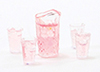 CB168 - Pink Lemonade Set Of Pitcher W/4 Glasses