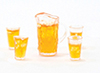 CB169 - Iced Tea Set Of Pitcher W/4 Glasses