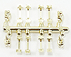 CB2725 - Window Hardware Gold 8 Handles/4 Locks