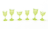 CB38G - Cut Stemware, Green, 6/Pc