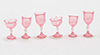 CB38P - Cut Stemware, Pink, 6/Pc
