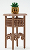 CB43 - Plant Stand with Plant, Brown