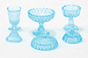CB68B - Candy Dishes, 3Pc, Blue
