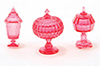 CB68CR - Candy Dishes, 3Pc, Cranberry