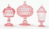 CB68P - Candy Dishes, 3Pc Pink