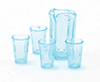 CB88B - Pitcher with 4 Glasses, Blue