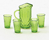 CB88EG - Pitcher with 4 Glasses, Emerald Green