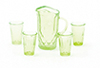 CB88G - Pitcher with 4 Glasses, Green