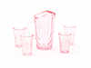 CB88P - Pitcher with 4 Glasses, Pink