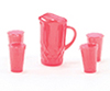 CB88R - Pitcher with 4 Glasses, Red