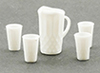 CB88W - Pitcher with 4 Glasses, White