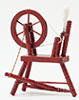 CLA00267 - Spinning Wheel, Mahogany