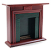 CLA01117 - Fireplace, Black Marble, Mahogany