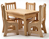 CLA01208 - Diningtab+4Chair, Oak(012081+2 Chair)
