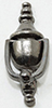 CLA05515 - Working Door Knocker, Pewter, 1Pc
