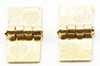 CLA05540 - Square Hinges,Brass, 4/Pk