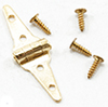 CLA05542 - Triangle Hinges,Brass, 4/Pk
