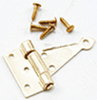 CLA05560 - T-Hinges with nails, Brass, 4/pk