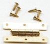 CLA05562 - H Hinges with Nails,Brass, 4/Pk