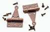 CLA05565 - T-Hinges with nails, Oil Rubbed Bronze, 4/pk