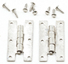 CLA05569 - H Hinges With nails, 4Pk, Satin Nickel